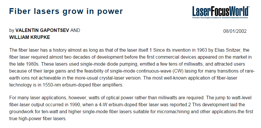 Fiber Lasers, Amplifiers & Laser Systems | IPG Photonics