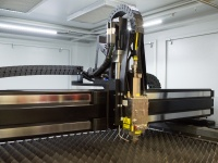 inside IPG's Lasercube flatbed fiber laser cutting machine