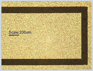 Patterning Gold on PET with fiber lasers