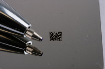 black marking of metals, qr code