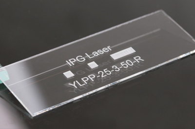 precise laser marking of glass