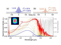 Super-octave longwave mid-infrared coherent transients produced by optical rectification of few-cycle 2.5-μm pulses