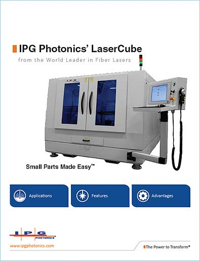 brochure the LaserCube - a sheet metal cutting machine